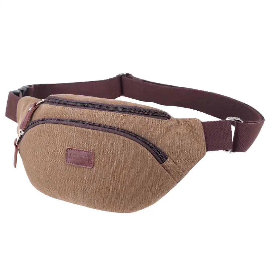 Custom Fanny Packs Unisex Canvas Waist Bag Durable Sport Fanny Pack Wholesale
