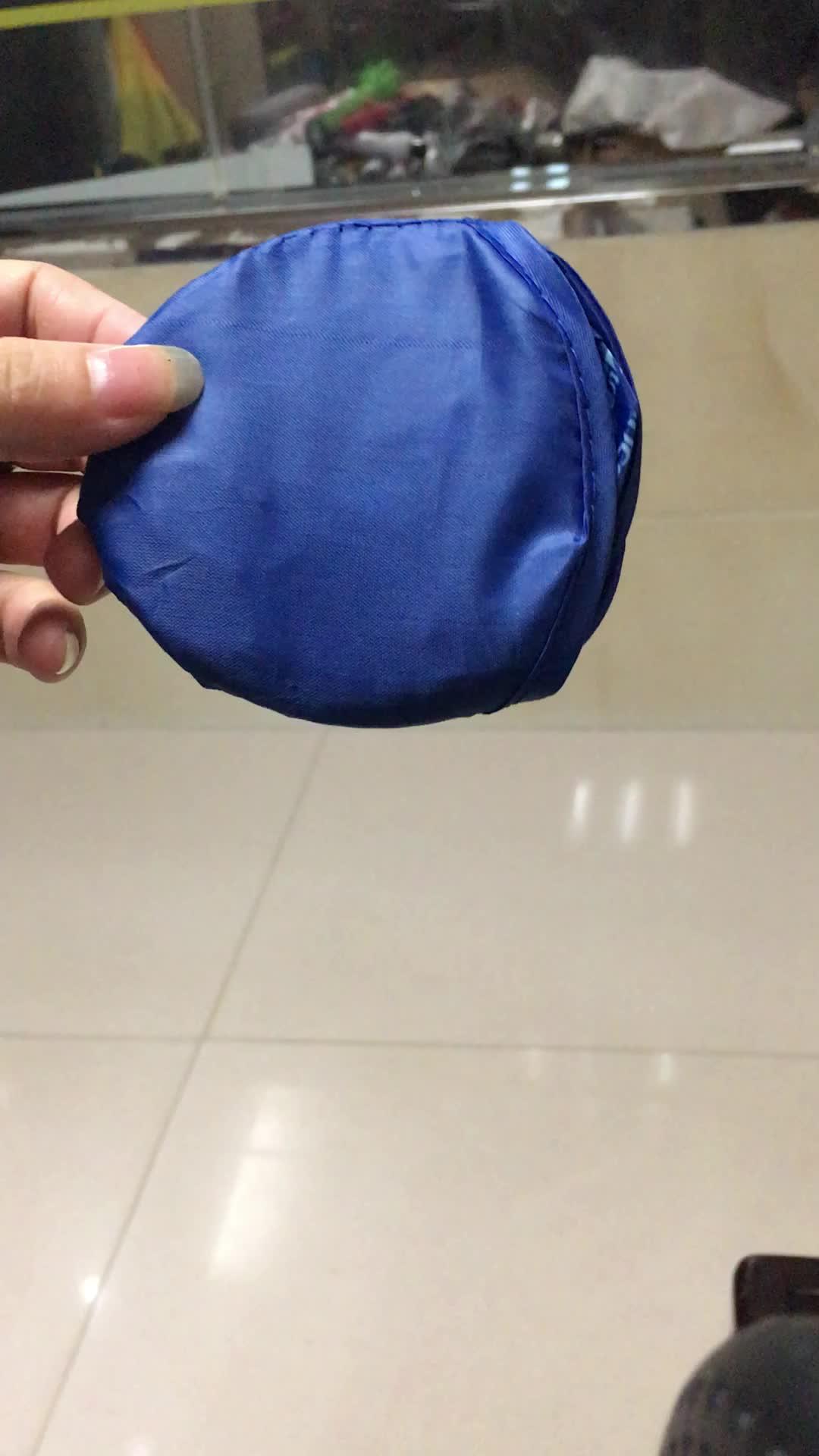 2019 alta calidad forma esy llevar pequeños conveniente barato personalizada plegable de nylon ventilador redondo