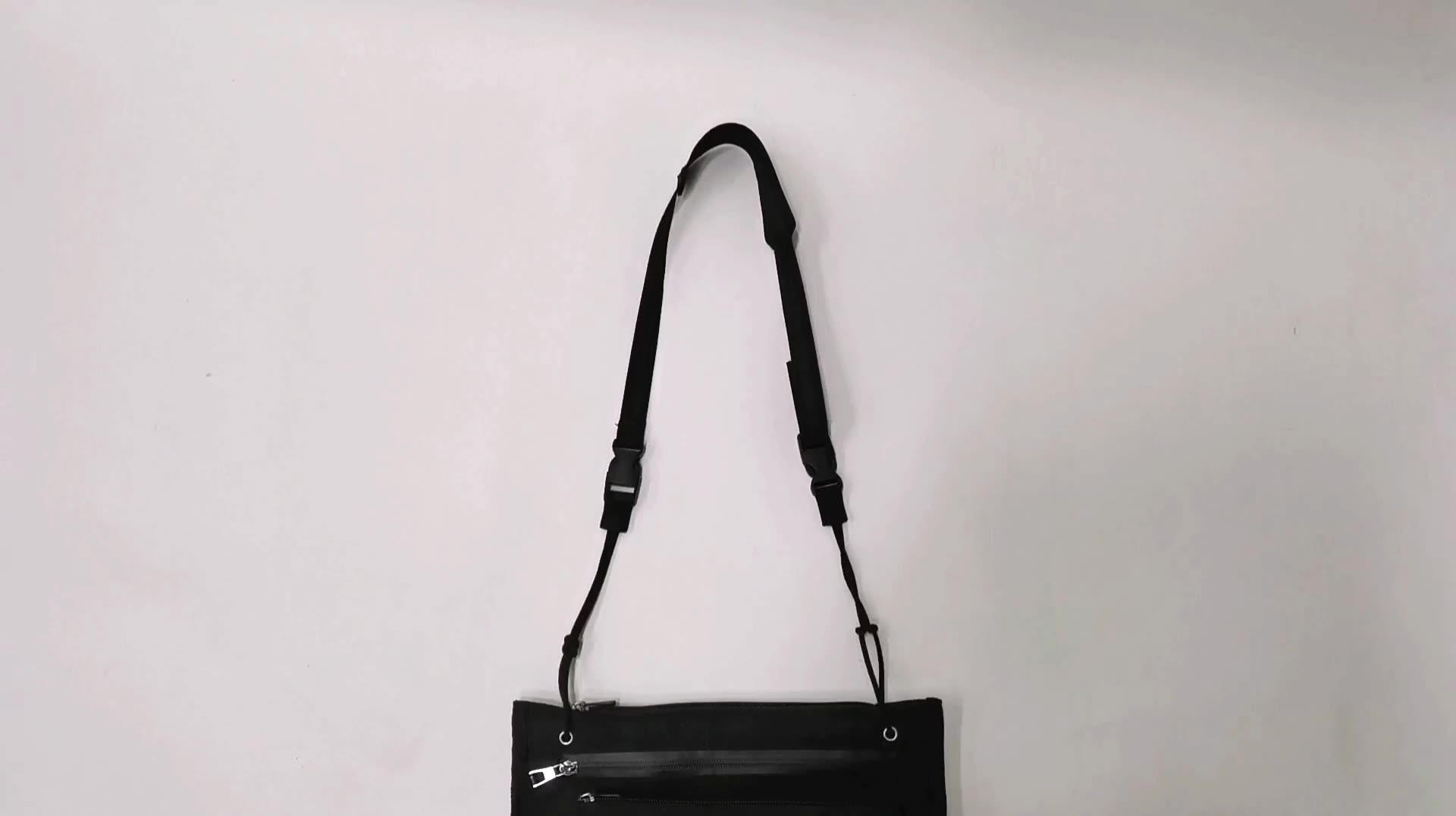 Hot sale Fashion Durable Unisex High quality waterproof zipper Adjustable Strap Hip Hop 600D Oxford Tote Crossbody Messenger Bag