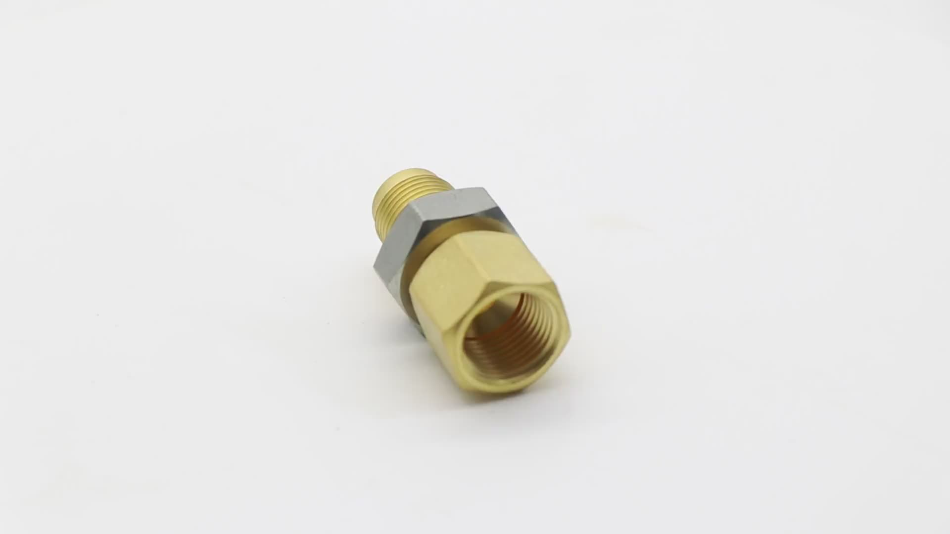 K527  45-degree angle flare fitting Direct coupling copper male and female threaded for gas