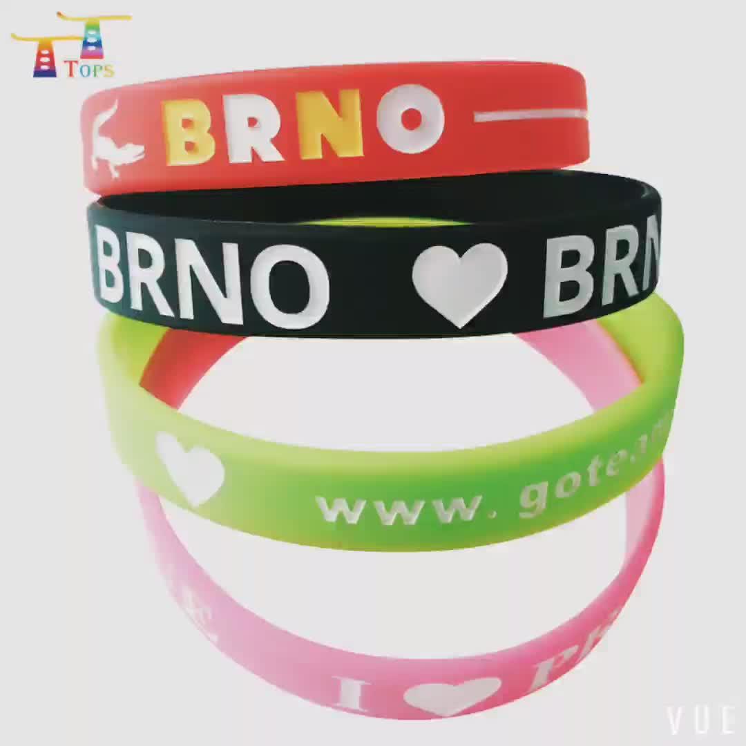 """Personalizzato 1 """"pollici wristband del silicone, logo inciso braccialetto in silicone, fascia del silicone"""