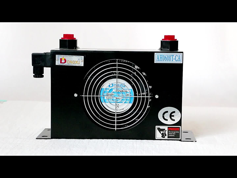 Universele machine aluminium mini air om water warmtewisselaar met ventilator