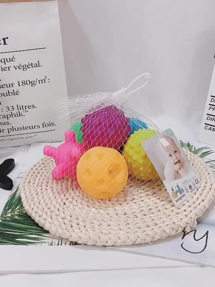 손 잡아 질감 멀티 공 세트 다채로운 아기 촉각 공 장난감