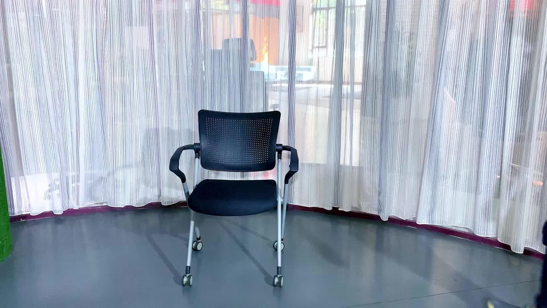Barato de plástico plegable de oficina Silla de visitante para sala de conferencias de formación silla