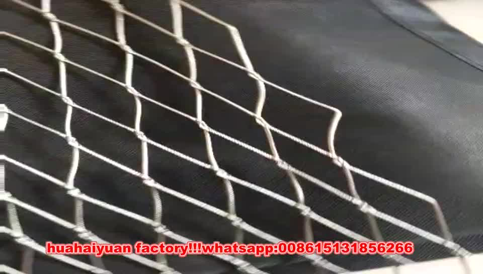 Professional factory supply stainless steel wire rope mesh