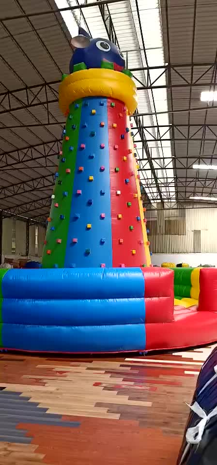 HI CE  inflatable climbing wall/inflatable climbing holds/inflatable floating rock climbing for sale