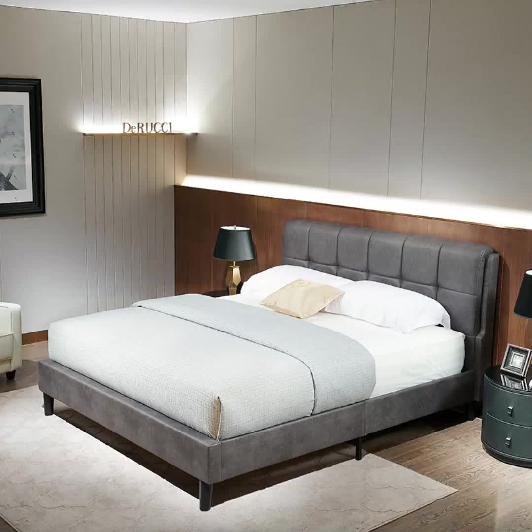 wholesale leather bedroom sets with headboard bed frame