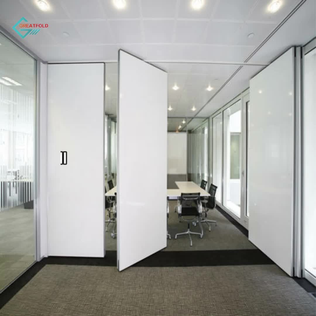 High Quality Aluminum Frame Wood Partition Doors for Meeting Room