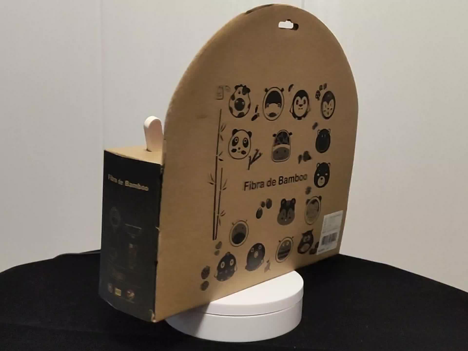 BPA मुक्त भालू मॉडल बच्चों बांस फाइबर बर्तन सेट प्लेटें, बच्चों बांस पुआल बर्तन सेट