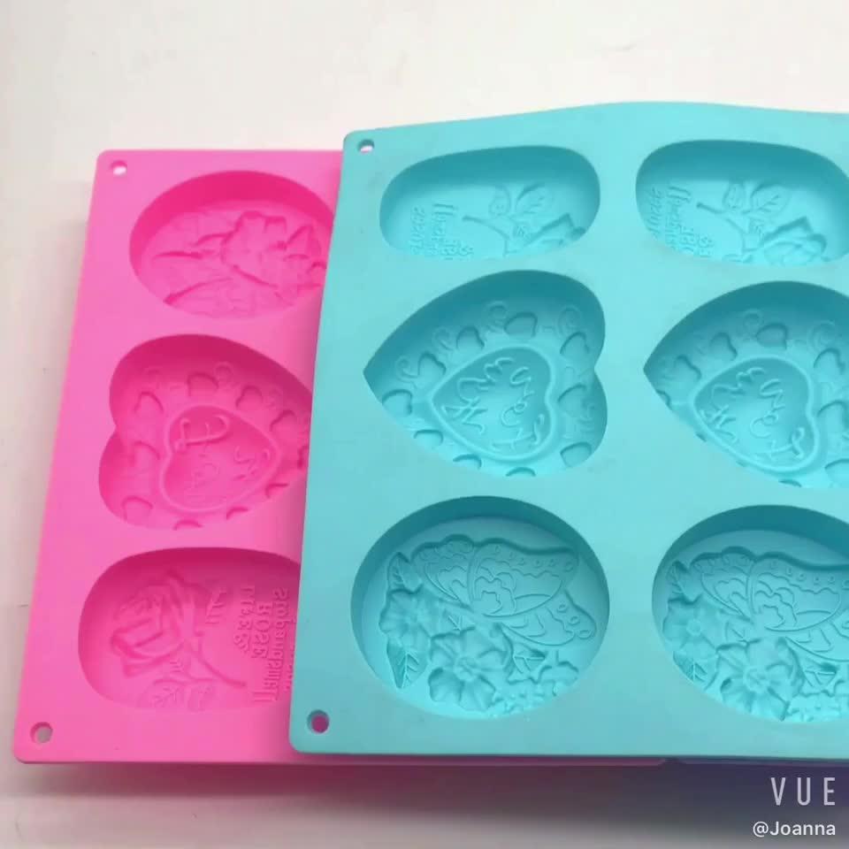 Benhaida Yeni tasarım 6 Kaviteler el yapımı silikon kalıp sabun için 2019 sıcak satış