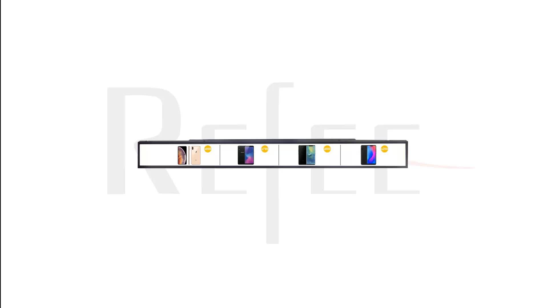 23 pulgadas ultra amplia barra alargada medios digitales pantalla LCD para el borde de la plataforma