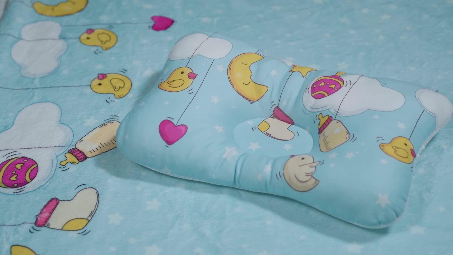 3dメッシュ卸売赤ちゃん3dネットエアメッシュ枕防ぐフラットヘッドベビー枕