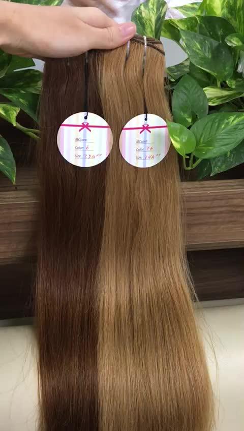 Vietnamese menselijk Beste Hair Extensions, Blond Kleur Haar Goedkoopste Prijs Snelle Verzending cuticula uitgelijnd haar