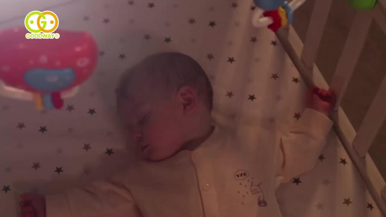 유아 침대 벨 전기 유아용 분리형 작은 꿀벌 동물 딸랑이