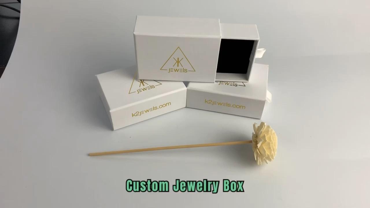 Ожерелье коробка ювелирных изделий класса люкс ручной работы, изготавливаемая на заказ аппарат для испытания бумаги на кольцевое упаковка подарочная коробка ювелирных изделий с напечатанным логотипом