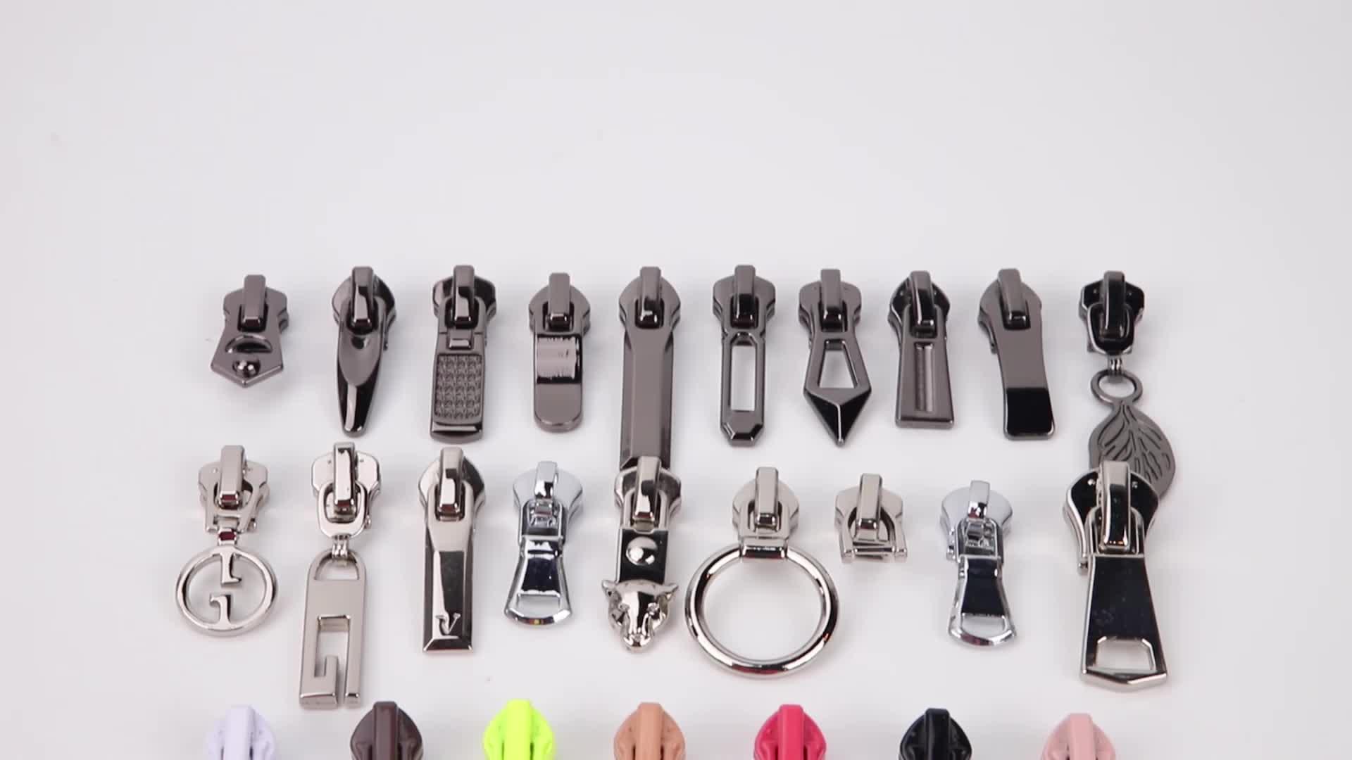 DSS Logo Personalizzato Placcatura 5 # Zip In Metallo Puller Cursori Della Chiusura Lampo Per Abbigliamento/Stivali