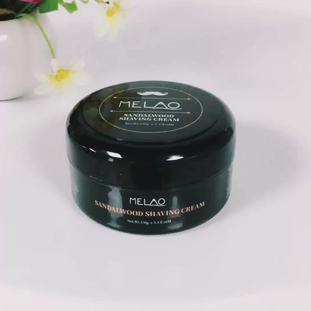 MELAO Natural Organic Smooth Mini Peppermint OEM Custom Brand Men Shave Cream Set Private Label
