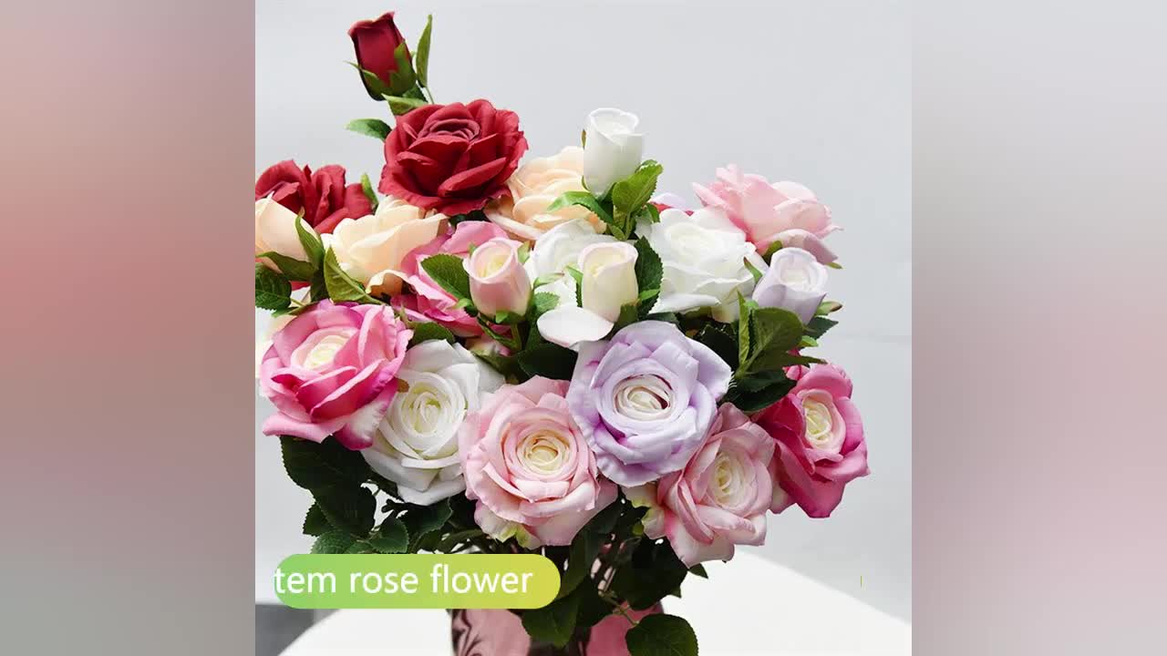310310800 Customized Hot Sell Fake Roses For Wedding Decoration