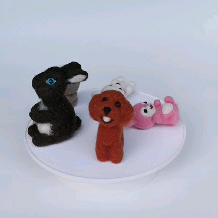 Poodle Dog Needle Felting Kits Handicraft Crafts Supplies for Felt Beginners