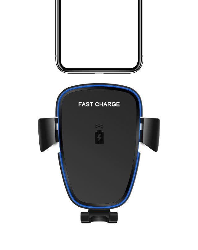 10W QI Wireless Charger Car Holder for iPhone X 8 Plus Samsung S8 Fast Car Mount Wireless Charging Charger Phone Holder
