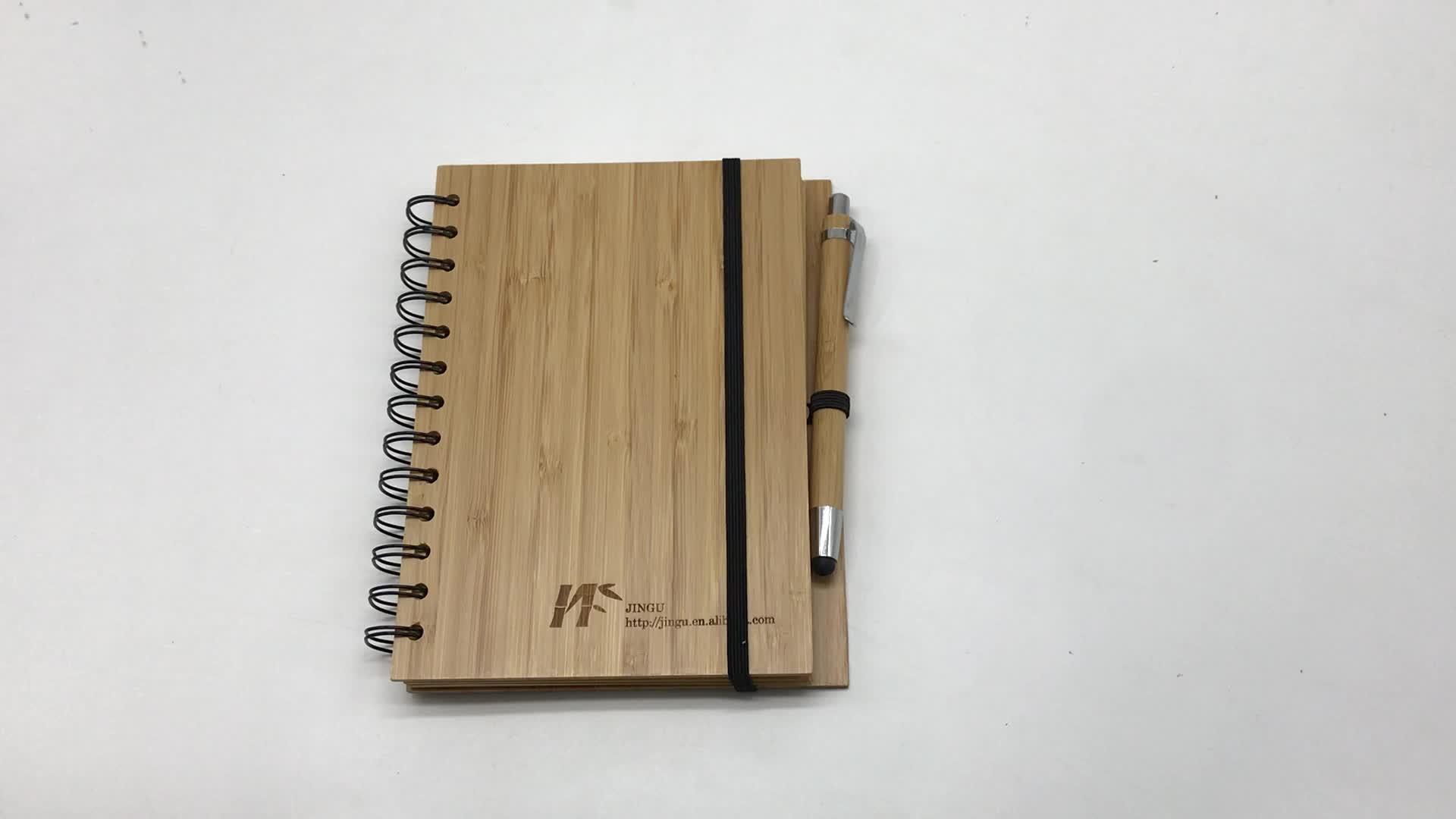 Notebook de bambu eco friendly papelaria Jingu