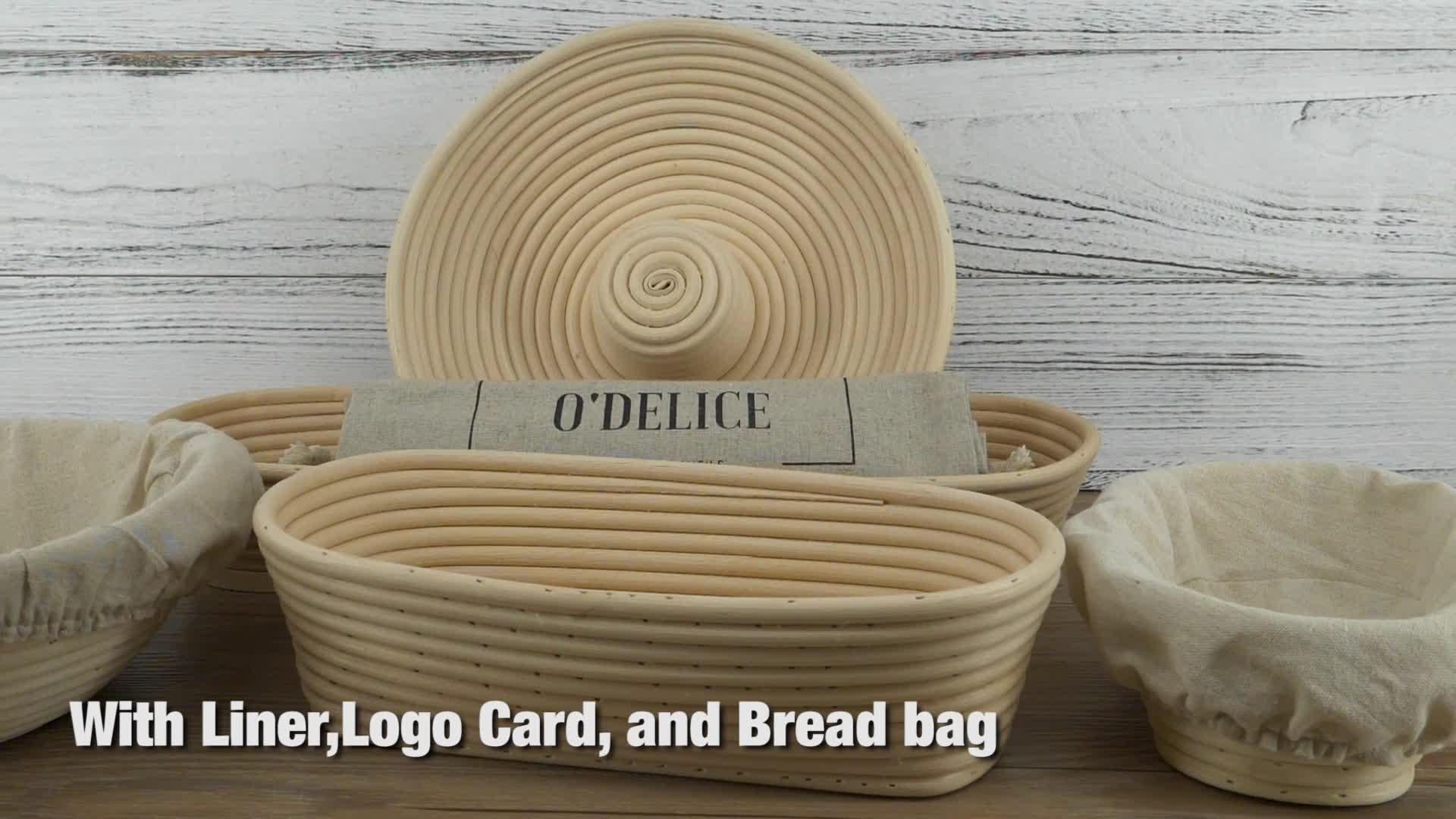 Fabrik Großhandel Lebensmittelqualität handgemachte natürliche Rattan Banneton Brot Proofing Korb