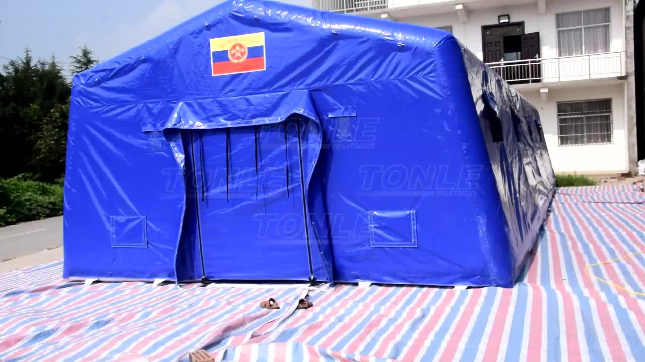 Portátil exército militar inflável hermético tenda inflável, tenda médica do hospital para venda