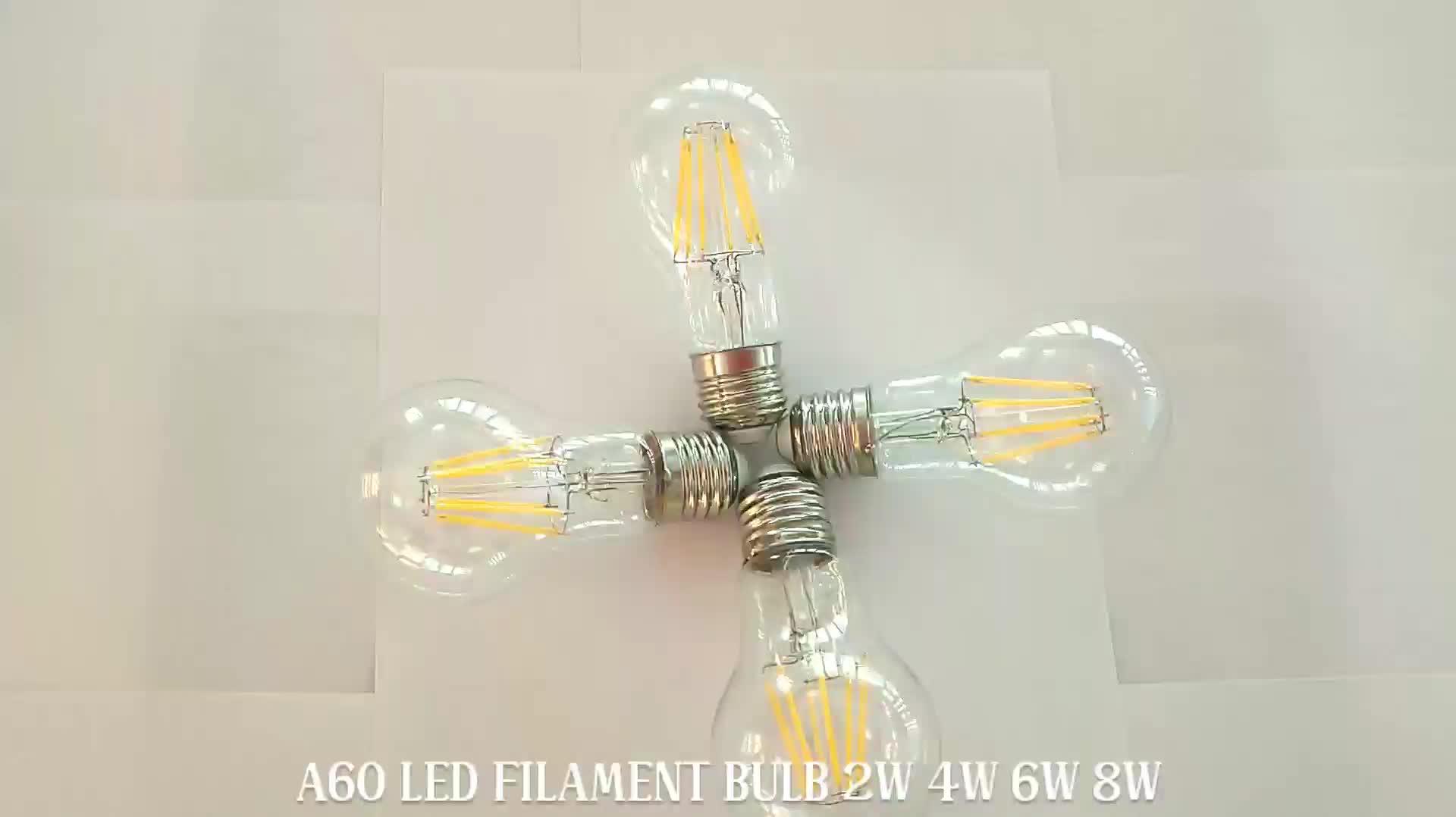 Led Plant Grow Light A60 4W 6W 8W E27 Filament Bulb