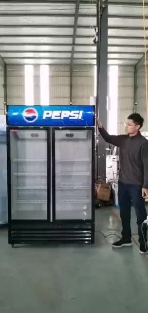 New style Upright Beverage Showcase Commercial Upright Cooler Fridge Store Glass Door