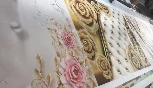 Vinyl behang 3d waterdichte muur papier voor badkamers vinyl behang