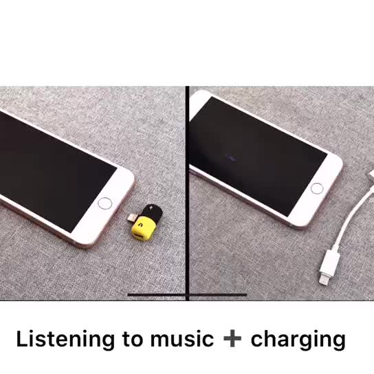 Wholesale capsule mini adapter dual light ning charging Jack Audio Adapter AUX Charge Earphone2 in 1 adapter usb otg cable