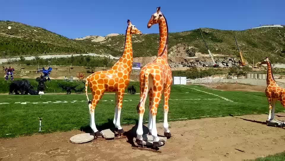 Amusement park products Fiberglass resin tiger statue for garden decor