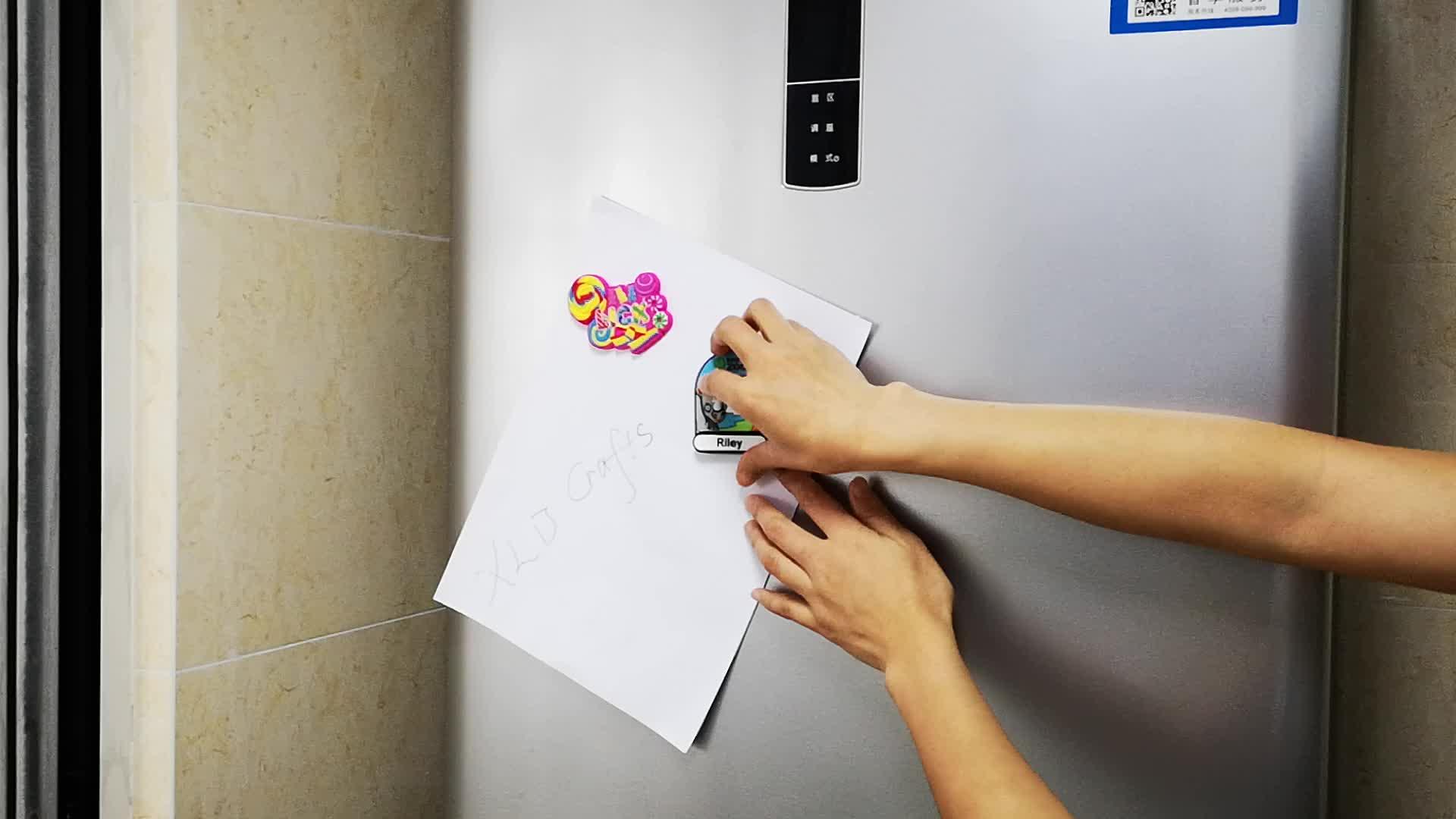 カスタム冷蔵庫 3D シリコーン冷蔵庫マグネットパーソナライズ成形製品