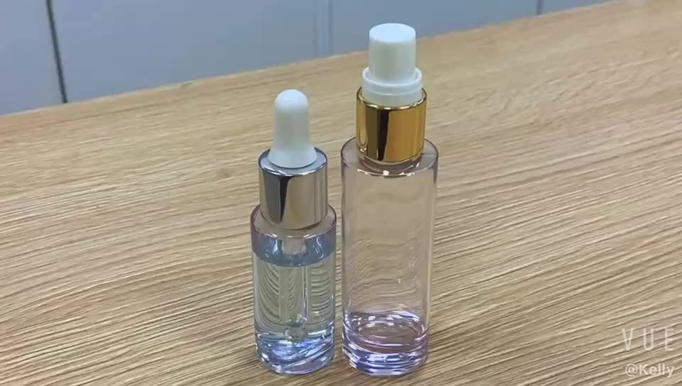 New Product thick bottom dropper bottle 20ml PETG transparent lotion pump cosmetic bottles for serum