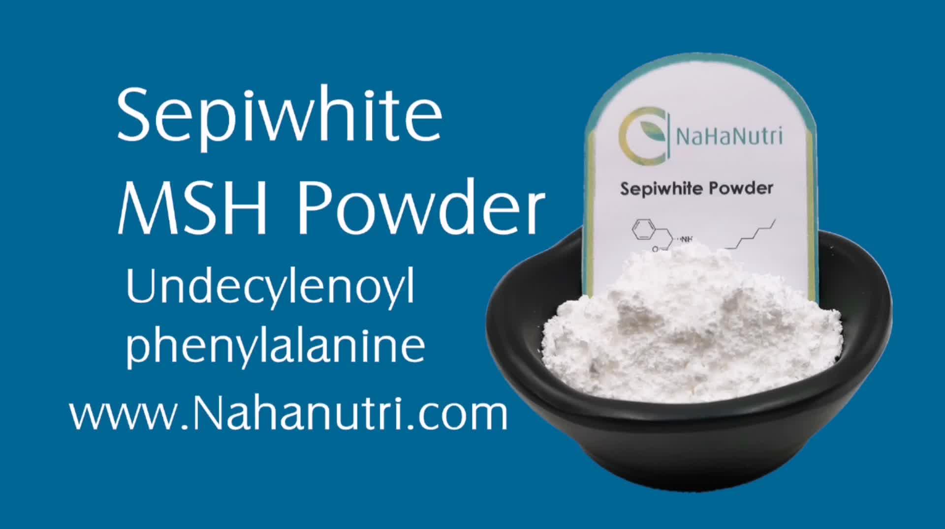 עור הלבנת Undecylenoyl פנילאלנין Sepiwhite MSH אבקה