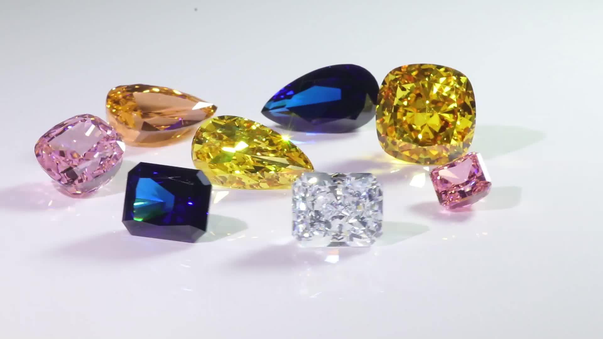 Wuzhou manufactory Redoors jewelry CZ Yellow gold color cubic zirconia Loose genstonescubic zirconia