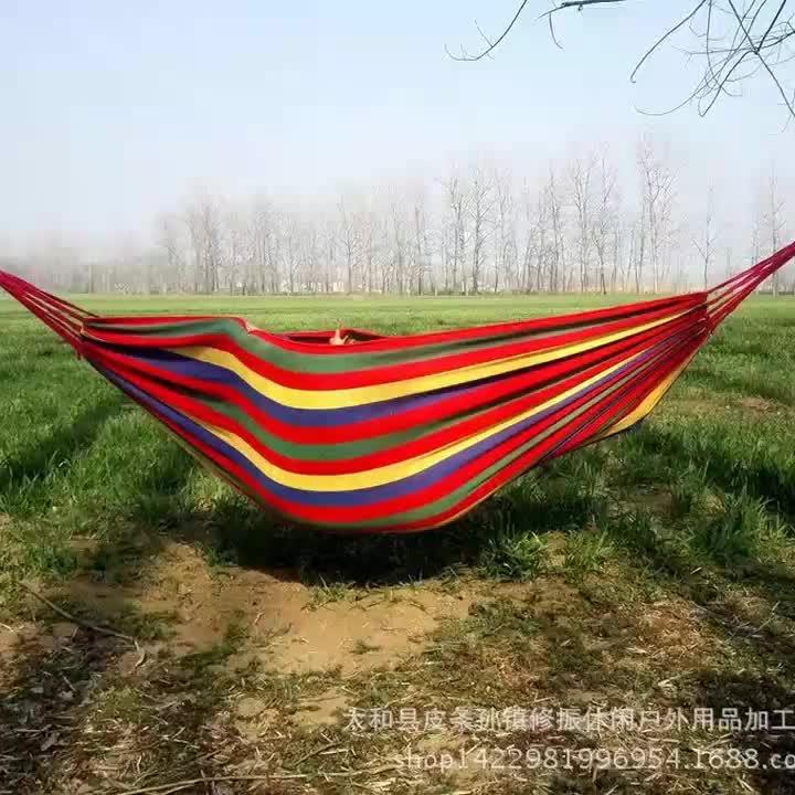 2-Person Camping Hängematten Bett Extra Große Leinwand Baumwolle Hamacas Hamak Hangmat Tragbare Doppel Hängematte mit Trage Tasche