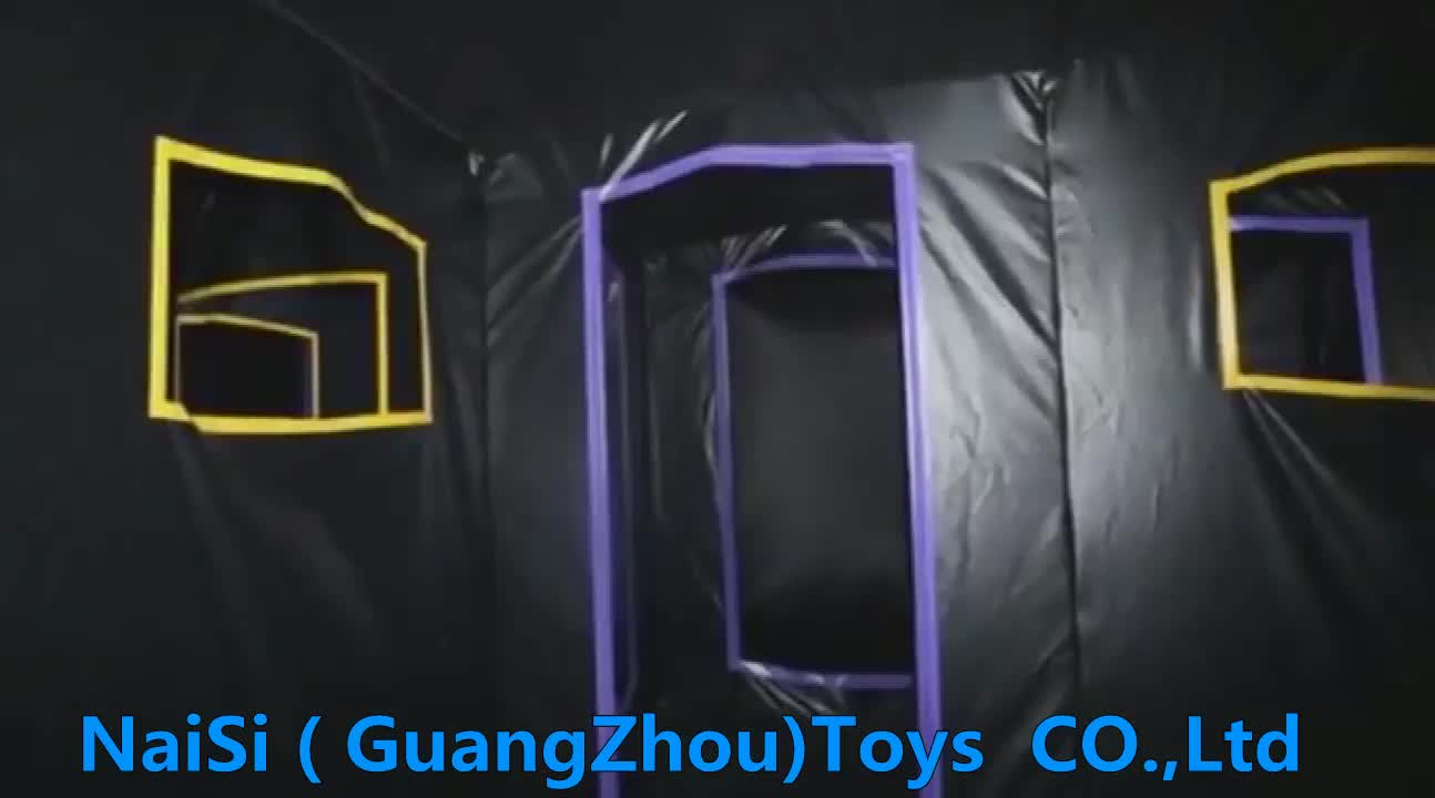 Outdoor Sport Amusement Equipment Laser Tag Castle Maze Arena Inflatable Hunted House Maze For Sale