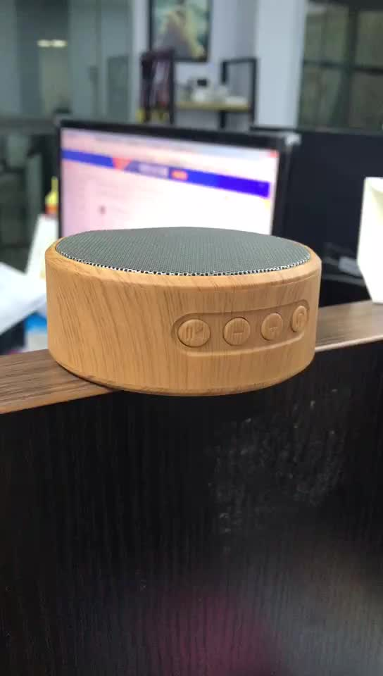 New newness outdoor professional speakers music faux wood mini wireless portable speaker wireless