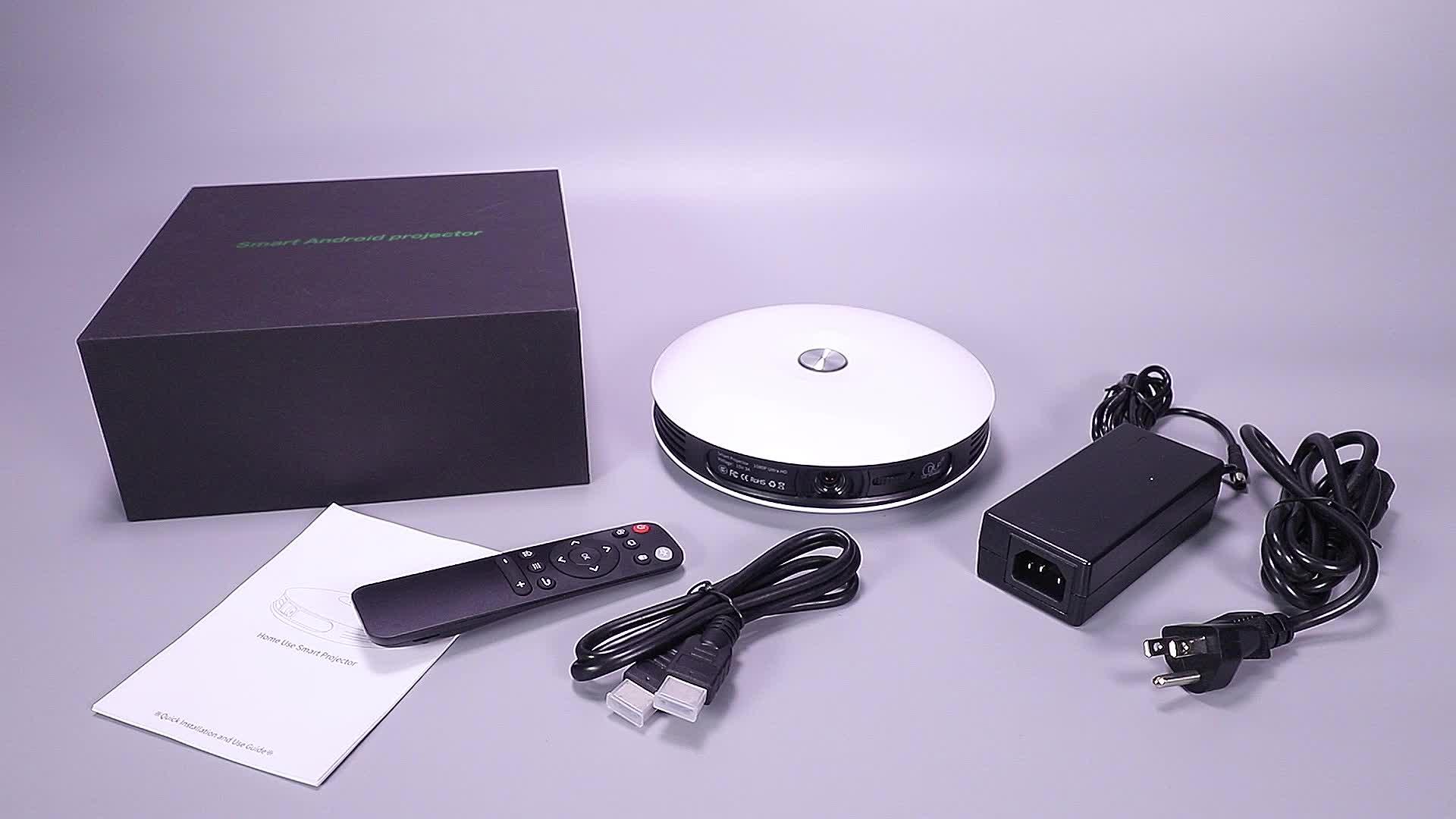 DLP 250 ANSI Lumens Eight Core HD LCD 3D Portable 4 K LED Portable Mini Home Theater Proyektor