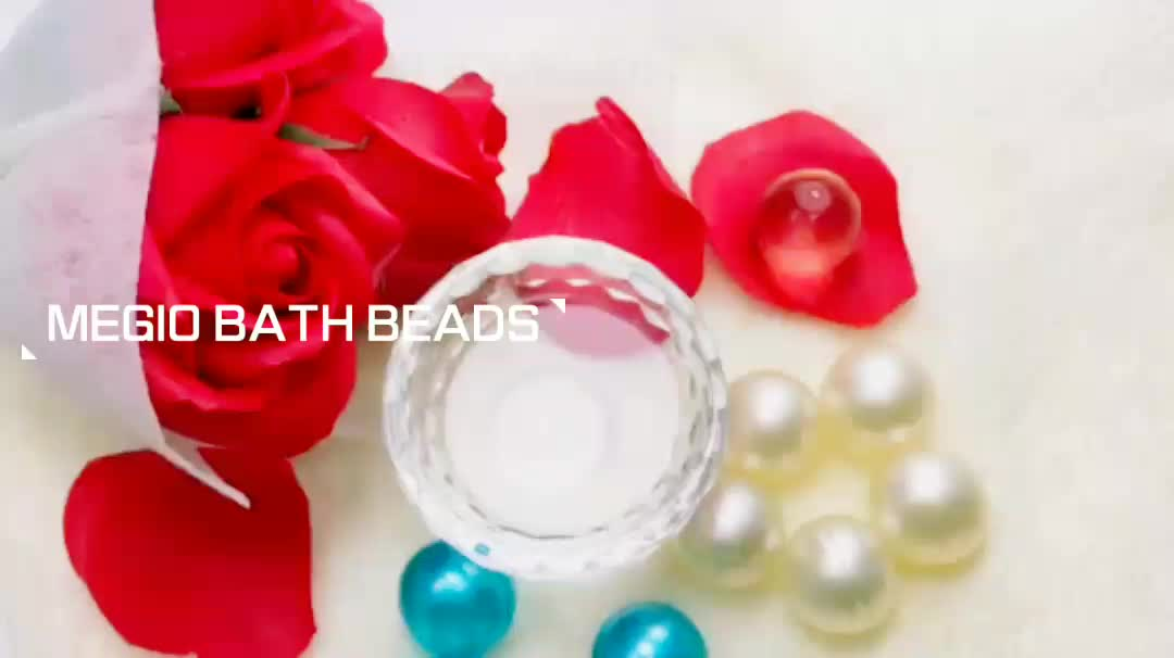 Round Bath beads, Bath pearls, Bath oil beads