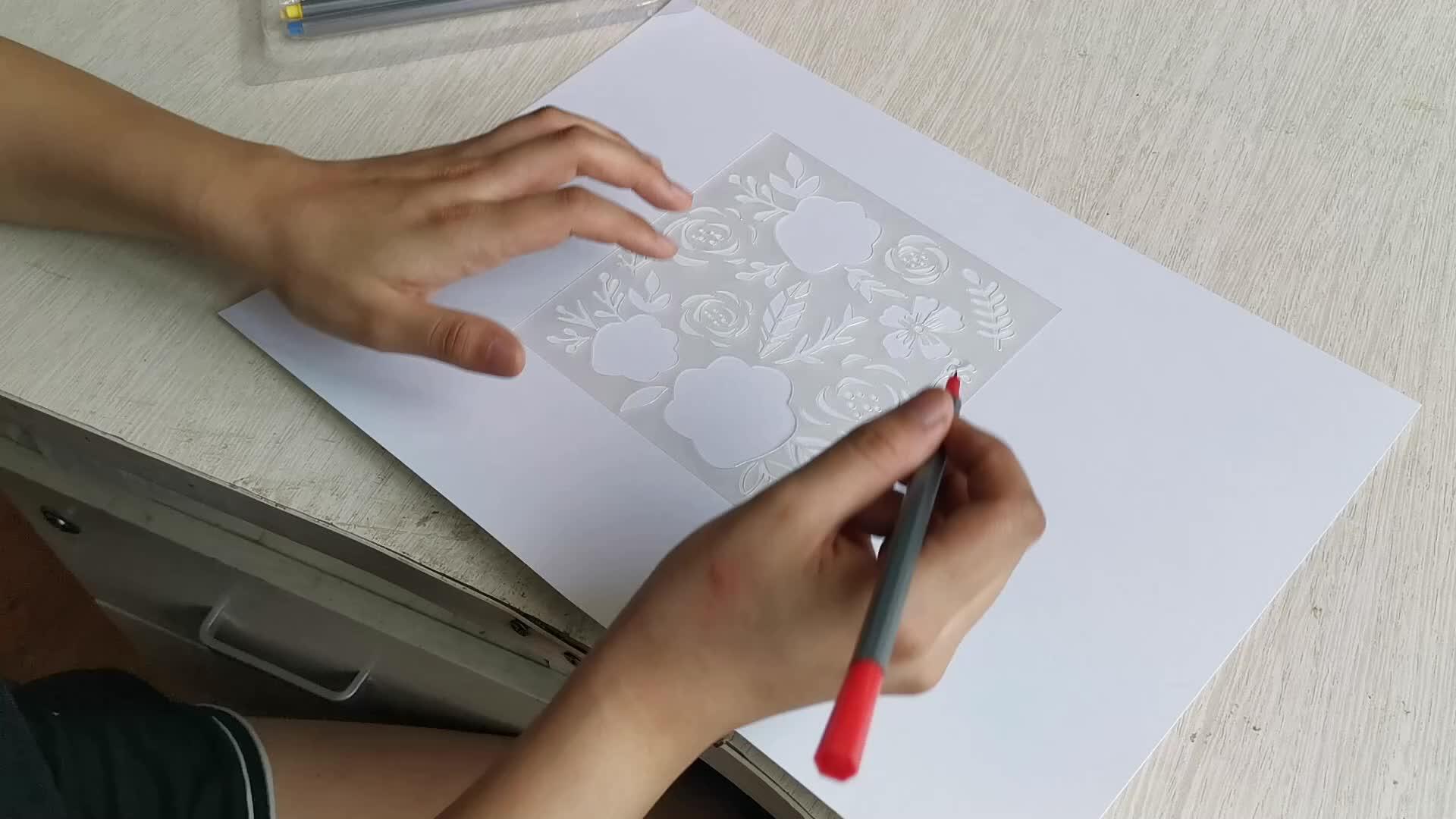 Çin Fabrika Toptan Özel Plastik mektup kahve Şablon