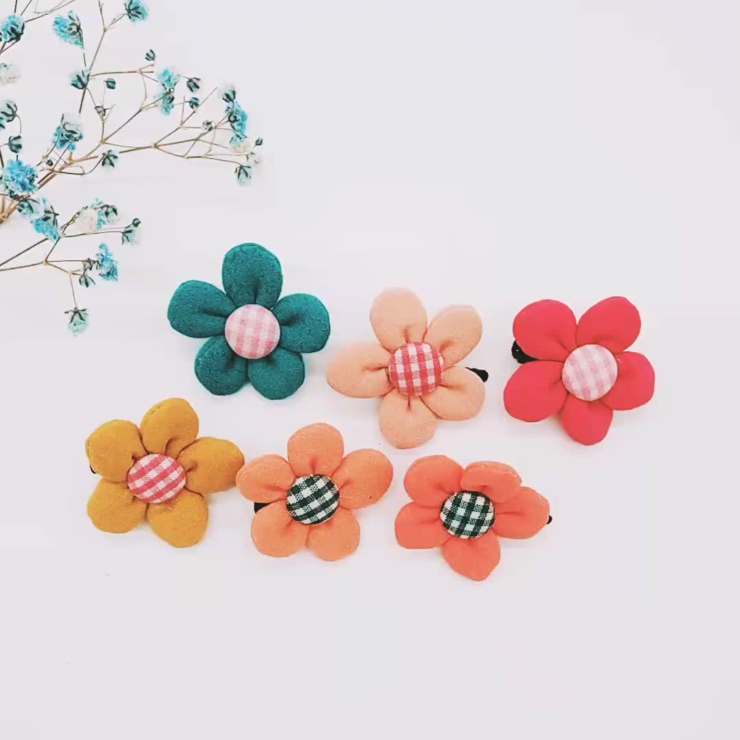 Bunte kinder alligator haar clips floral form sunflower design geschenk set verpackung