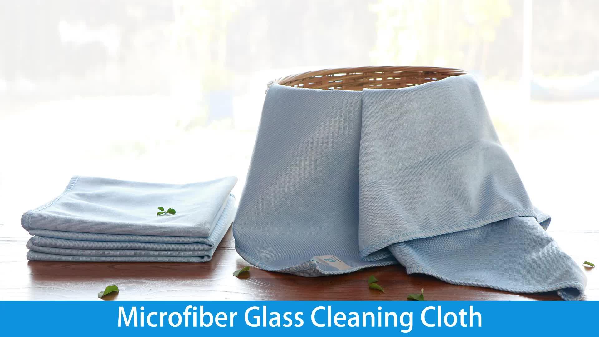 Fornitore di Oro porcellana Promozionale Blu In Microfibra di Vetro Panno Per Specchio di Pulizia
