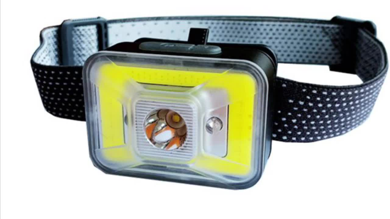 High Power USB Rechargeable Sensor Headlamp,Super Bright LED and RED COB LED Aluminum Headlamp for Bicycle Headlight Waterproof