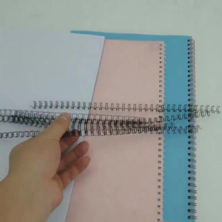 Metal Double Loop wire-o 4.8-14.3MM 34 Loops Size pitch 3:1 colorful Multipurpose  Double loop ciol binding for notebook