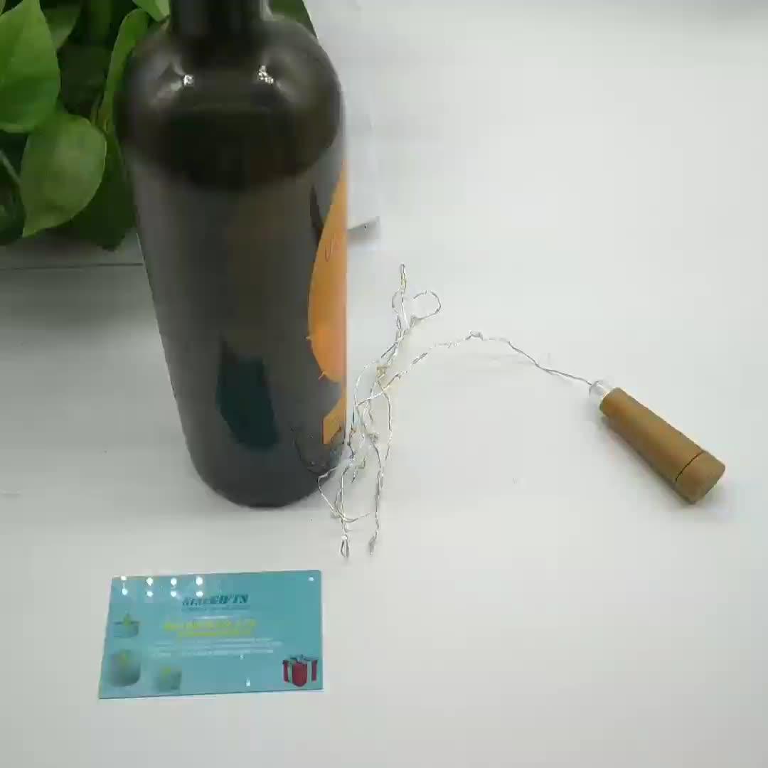 Idéias de novos Produtos 2019 Led Luzes Da Corda de Cortiça Garrafa De Vinho