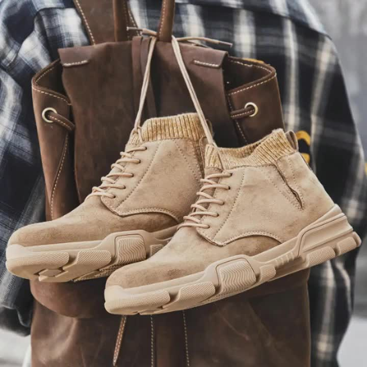 Fashion men leather men winter boots casual sports shoes