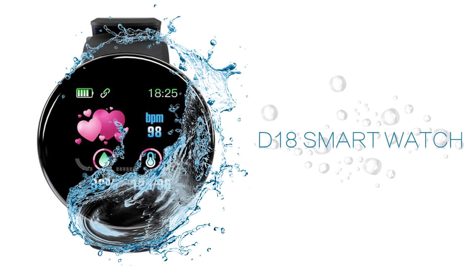 ONUEMP умные часы 2020, высокое качество, Reloj inteligente D18, умный браслет, Android, умные часы 2019 для мобильных телефонов, умные часы