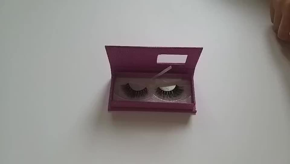 Custom Luxury Private Label False Eyelash Paper Glitter Packaging Box